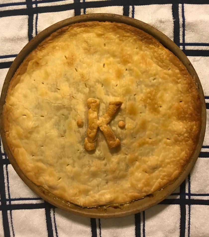 Monogrammed Chicken Pot Pie www.theluckywife.life