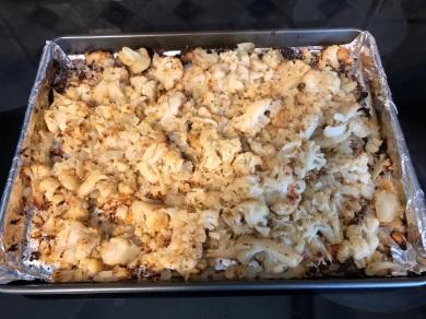 Roasted Parmesan Cauliflower by Melanie Knight